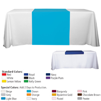 "60"" L Table Runners - (Blanks) / Accommodates 3' Table and Larger"